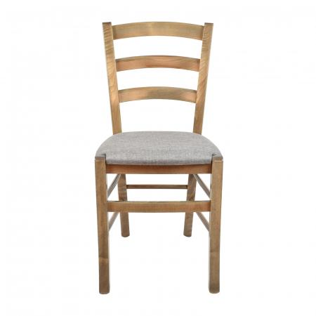 Scaun din lemn Venetia tapitat maro-trufa [3]