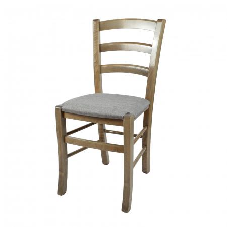 Scaun din lemn Venetia tapitat maro-trufa [0]