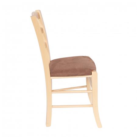 Scaun din lemn Venetia tapitat natur [1]