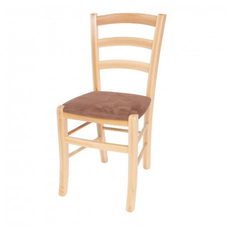 Scaun din lemn Venetia tapitat natur [5]