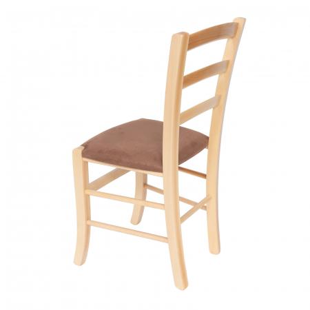 Scaun din lemn Venetia tapitat natur [4]