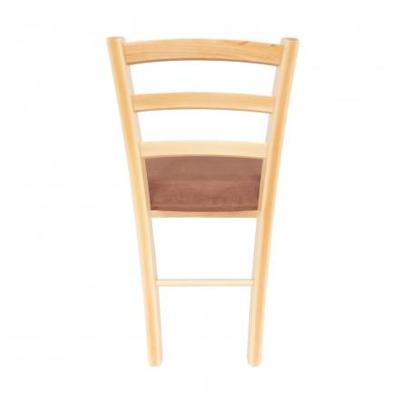 Scaun din lemn Venetia tapitat natur [3]