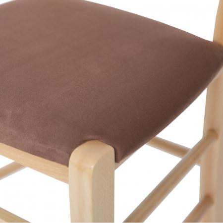 Scaun din lemn Venetia tapitat natur [6]