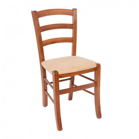 Scaun din lemn Venetia tapitat nuc [0]
