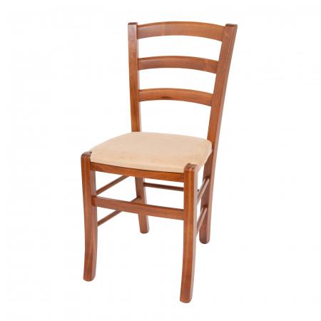 Scaun din lemn Venetia tapitat nuc [4]