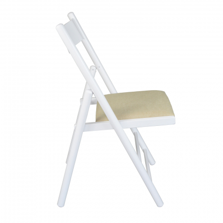Scaun pliant din lemn Caprice tapitat alb [1]