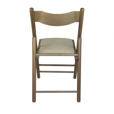 Scaun pliant din lemn Caprice tapitat maro-trufa [3]