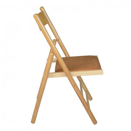 Scaun pliant din lemn Caprice tapitat natur [1]