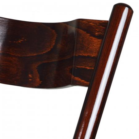 Scaun pliant din lemn Caprice tapitat nuc ciocolata [6]