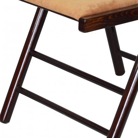 Scaun pliant din lemn Caprice tapitat nuc ciocolata [5]