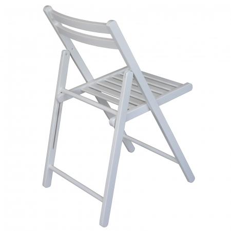 Scaun pliant din lemn IGOR alb [2]