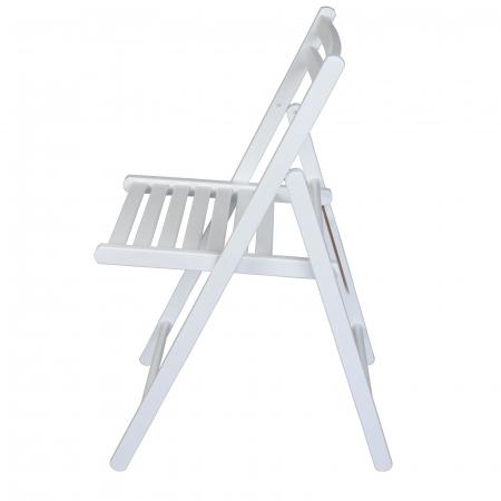 Scaun pliant din lemn IGOR alb [5]