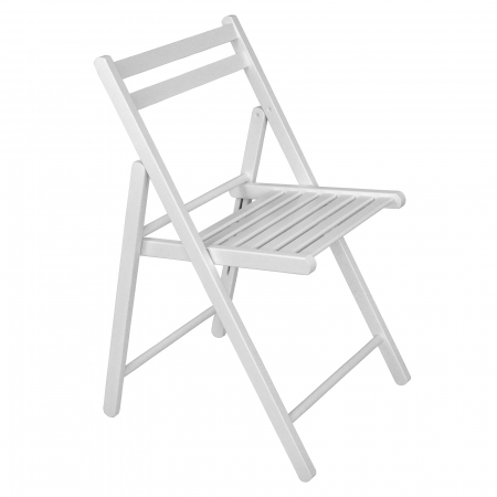 Scaun pliant din lemn IGOR alb [0]