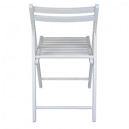 Scaun pliant din lemn IGOR alb [3]