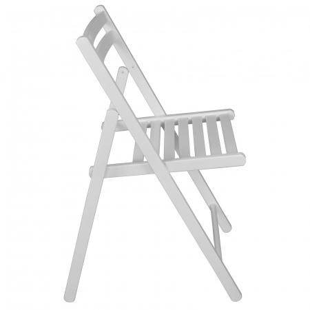 Scaun pliant din lemn IGOR alb [1]