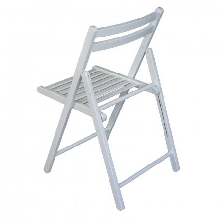 Scaun pliant din lemn IGOR alb [4]