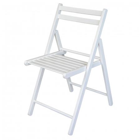 Scaun pliant din lemn IGOR alb [6]