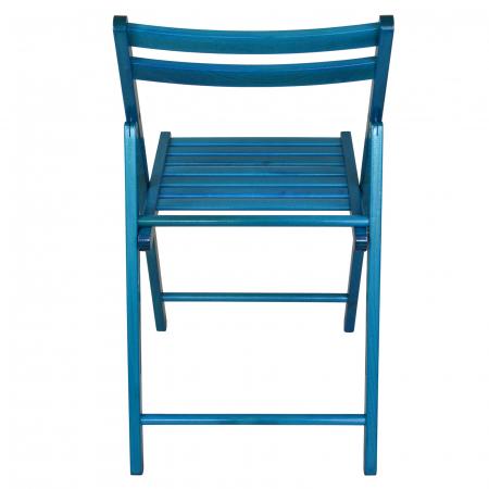 Scaun pliant din lemn IGOR albastru [3]