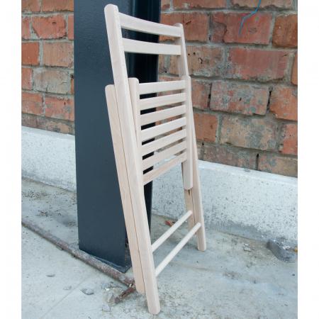 Scaun pliant din lemn IGOR crud [4]