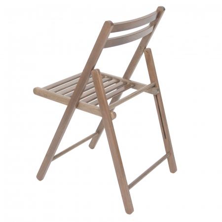 Scaun pliant din lemn IGOR maro-trufa [4]
