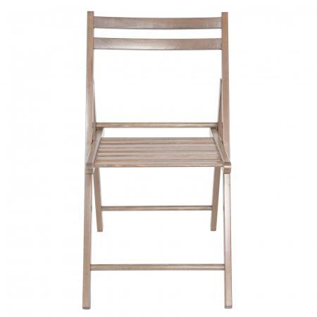 Scaun pliant din lemn IGOR maro-trufa [7]