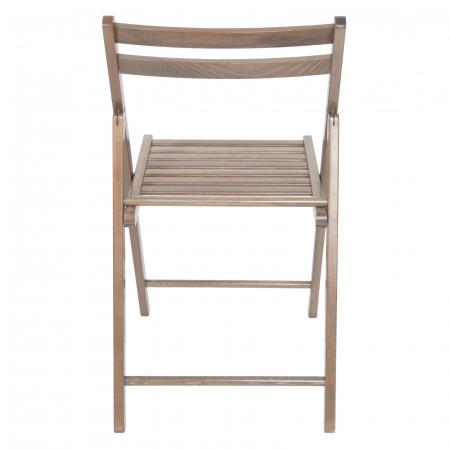Scaun pliant din lemn IGOR maro-trufa [3]