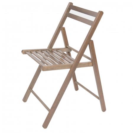 Scaun pliant din lemn IGOR maro-trufa [6]