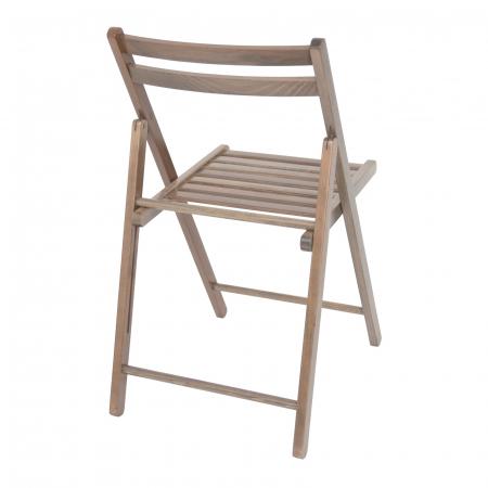 Scaun pliant din lemn IGOR maro-trufa [2]