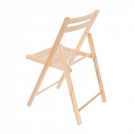 Scaun pliant din lemn IGOR natur [5]