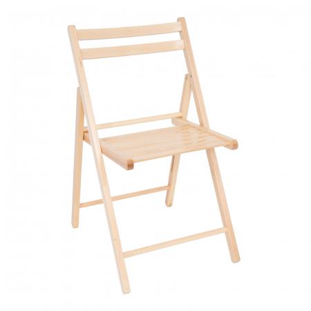 Scaun pliant din lemn IGOR natur [1]