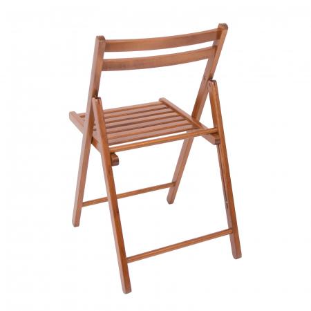 Scaun pliant din lemn IGOR nuc [5]