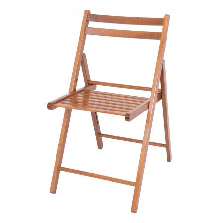 Scaun pliant din lemn IGOR nuc [8]