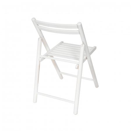 Scaun pliant din lemn IGOR R alb [2]