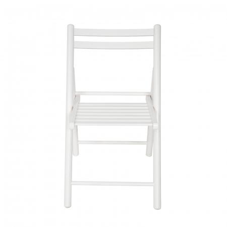 Scaun pliant din lemn IGOR R alb [3]