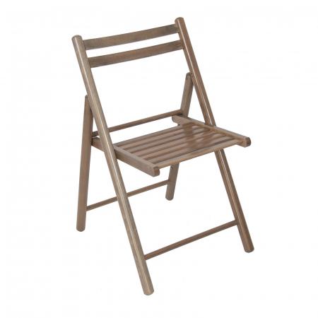 Scaun pliant din lemn IGOR R maro-trufa [0]
