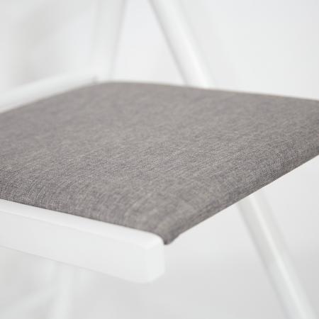 Scaun pliant din lemn IGOR R tapitat alb [6]