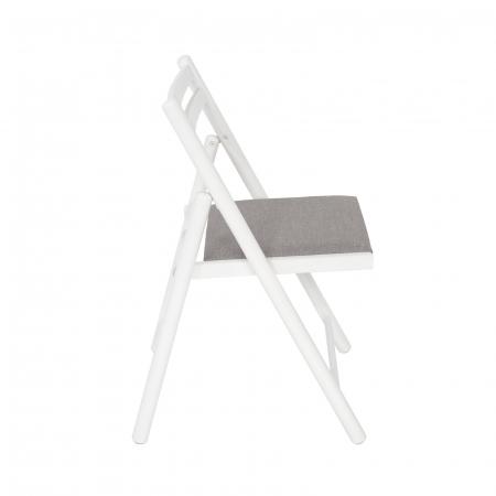Scaun pliant din lemn IGOR R tapitat alb [1]