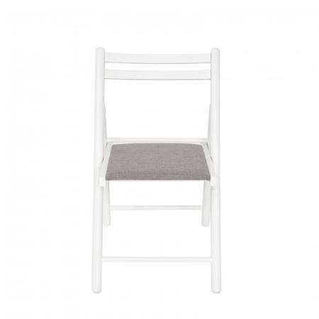 Scaun pliant din lemn IGOR R tapitat alb [5]