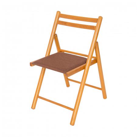 Scaun pliant din lemn IGOR R tapitat cires [4]