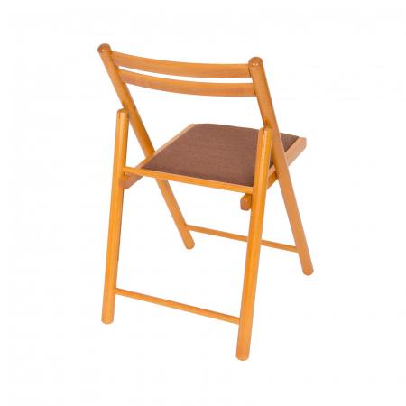 Scaun pliant din lemn IGOR R tapitat cires [2]