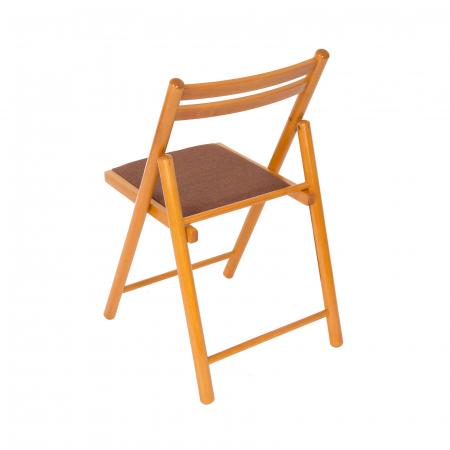Scaun pliant din lemn IGOR R tapitat cires [3]