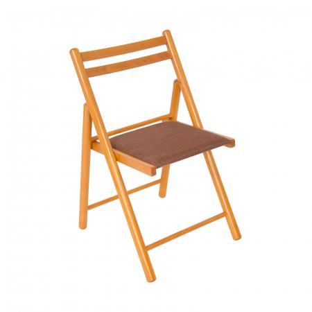 Scaun pliant din lemn IGOR R tapitat cires [0]