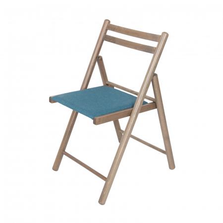 Scaun pliant din lemn IGOR R tapitat maro-trufa [4]
