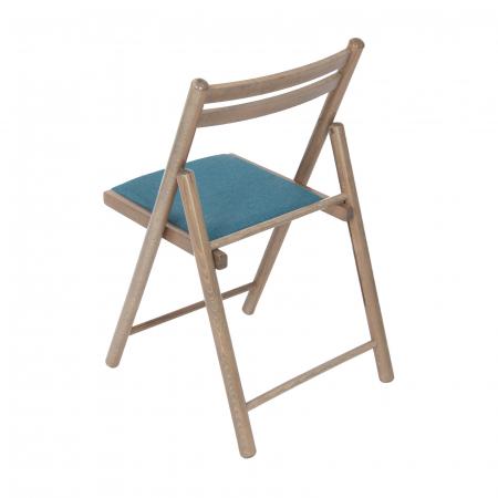 Scaun pliant din lemn IGOR R tapitat maro-trufa [3]