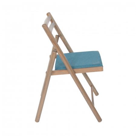 Scaun pliant din lemn IGOR R tapitat maro-trufa [1]