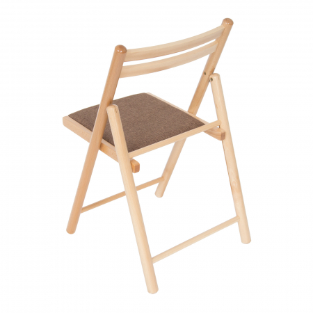 Scaun pliant din lemn IGOR R tapitat natur [3]