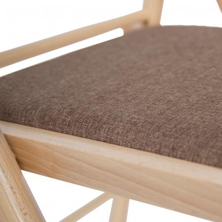 Scaun pliant din lemn IGOR R tapitat natur [6]
