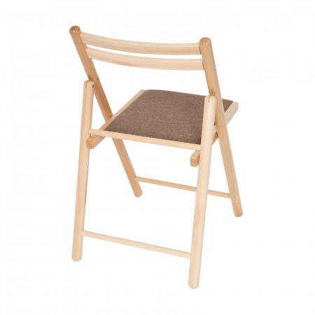 Scaun pliant din lemn IGOR R tapitat natur [2]
