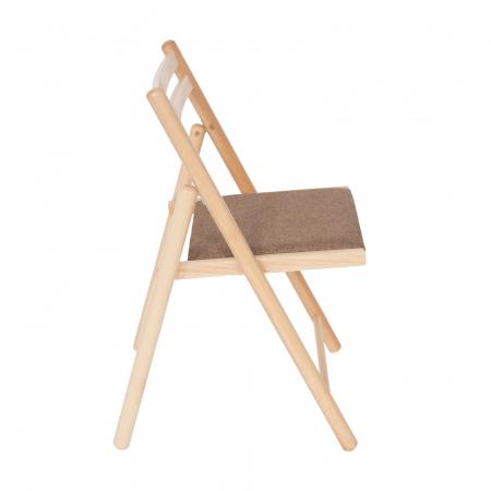 Scaun pliant din lemn IGOR R tapitat natur [1]