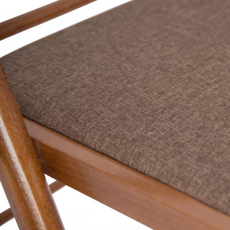 Scaun pliant din lemn IGOR R tapitat nuc [6]
